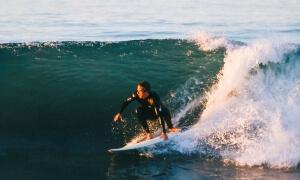 Catch a wave surfing